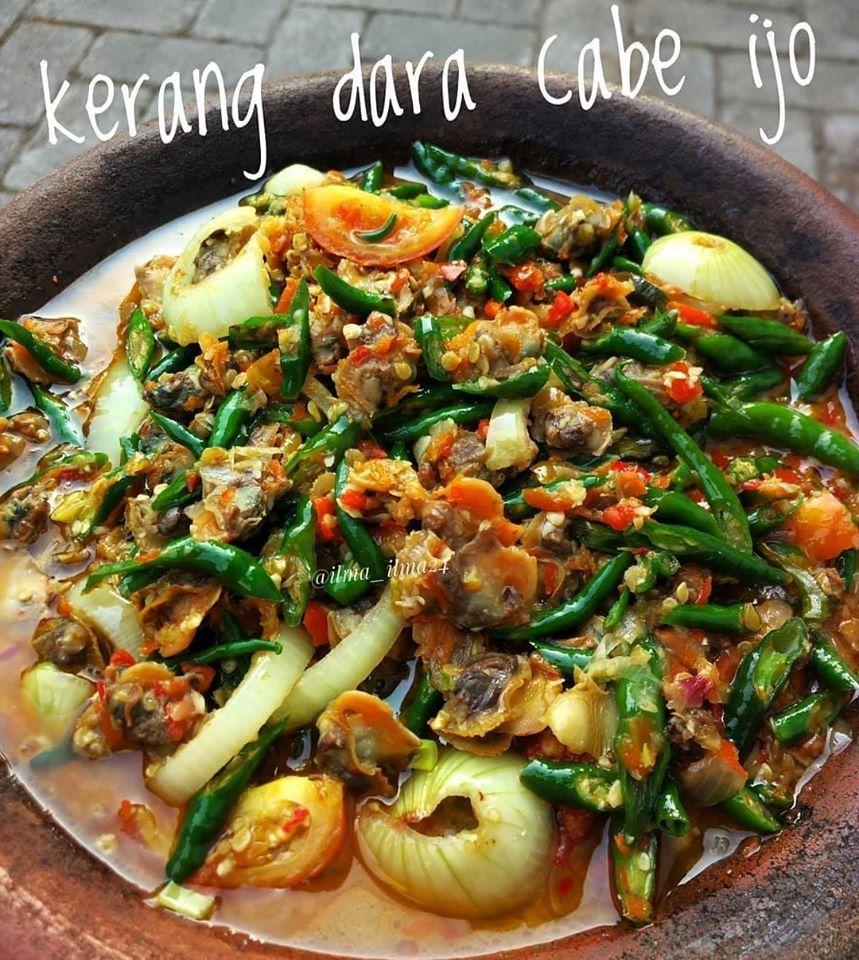Resep Masakan Kerang Dara Cabe Ijo